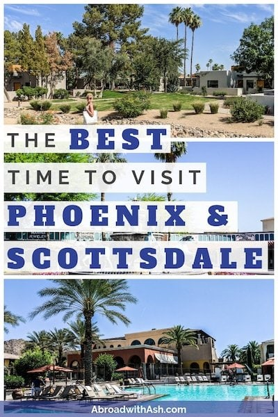 best time to visit phoenix and scottsdale